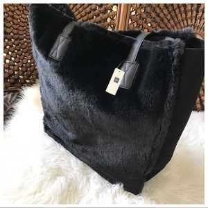NWT | GAP Faux Fur Oversized Tote